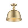 This item: Berg Warm Brass One-Light Semi-Flush Mount