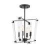 This item: Everett  Matte Black Four-Light Semi-Flush Mount