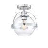 This item: Pendleton Polished Chrome One-Light Semi-Flush Mount