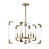 This item: Rotterdam Warm Brass 25-Inch Six-Light Chandelier