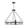 This item: Hudson Matte Black Eight-Light Pendant