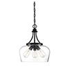 This item: Octav Black Three-Light Pendant