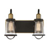This item: Lansing English Bronze and Warm Brass Two-Light Bath Vanity