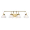 This item: Darlington Warm Brass Four-Light Bath Vanity