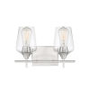 This item: Octave Satin Nickel Two-Light Bath Vanity