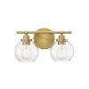 This item: Carson Warm Brass Two-Light Bath Vanity
