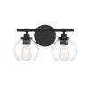 This item: Carson Matte Black Two-Light Bath Vanity