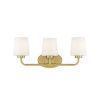 This item: Capra Warm Brass Three-Light Bath Vanity