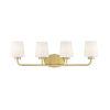 This item: Capra Warm Brass Four-Light Bath Vanity