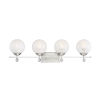 This item: Medina Satin Nickel Four-Light Bath Vanity