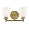 This item: Melrose Warm Brass Two-Light Bath Vanity