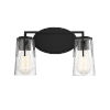 This item: Sacremento Black Two-Light Bath Vanity