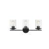 This item: Marshall  Matte Black Three-Light Bath Vanity