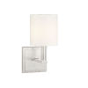 This item: Waverly Satin Nickel One-Light Sconce