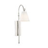 This item: Rutland Polished Nickel One-Light Sconce