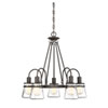 This item: Portsmouth English Bronze Five-Light Outdoor Chandelier