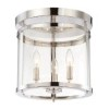This item: Penrose Polished Nickel Three-Light Semi-Flush