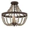 This item: Mallory Bronze Three-Light Semi-Flush