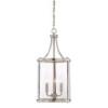 This item: Penrose Brushed Nickel and Pewter Three-Light Foyer Pendant