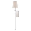 This item: Monroe Polished Nickel One-Light 6.5-Inch Wide Wall Sconce