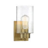 This item: Nicollet Natural Brass Five-Inch One-Light Wall Sconce