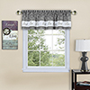 This item: Live, Love, Laugh Grey 58 x 14 In. Window Valance