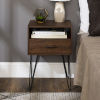 This item: Dark Walnut 18-Inch Single Drawer Hairpin Leg Side Table