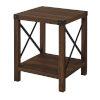 This item: Dark Walnut 18-Inch Wood Side Table