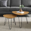 This item: English Oak and Black Nesting Table, Set of 2