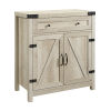 This item: White Oak and Black Accent Cabinet