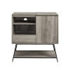 This item: Bonnie Gray and Black Record Player Accent Cabinet