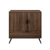 This item: Karlene Dark Walnut and Black Accent Cabinet with One Drawer