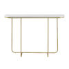 This item: White Faux and Gold 44-Inch Curved Entry Table
