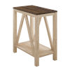 This item: Dark Walnut and White Oak Side Table