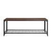 This item: Dark Walnut and Black Entry Bench with Shelf
