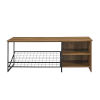 This item: Clayton Barnwood and Black Entry Bench with Shoe Storage