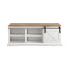 This item: White and Barnwood Entry Bench with Storage