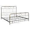 This item: King Bronze 84-Inch Bronze Metal Pipe Bed