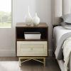 This item: Gwen Dark Walnut White Poplar One-Drawer Nightstand