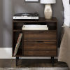 This item: Dark Walnut 25-Inch Storage Side Table