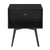 This item: Mid Century Black One-Drawer Nightstand
