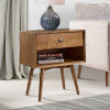 This item: Brown One Drawer Nightstand