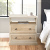 This item: Clyde White Oak Nightstand with Two Drawers