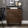 This item: Modern Glass Top Three Drawer Dark Walnut Accent Console