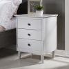 This item: White Three Drawer Nightstand