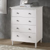 This item: White Four Drawer Dresser