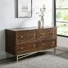 This item: Gwen Dark Walnut Four-Drawer Dresser