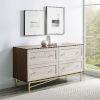 This item: Gwen Dark Walnut White Poplar Four-Drawer Dresser