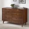 This item: Walnut Six Drawer Dresser
