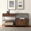This item: Keaton Dark Walnut and Black Storage Shelf